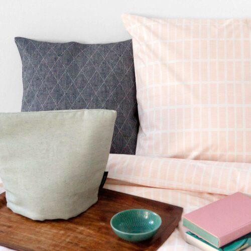 Bed linen, Tile Pale Rose 100% organic cotton