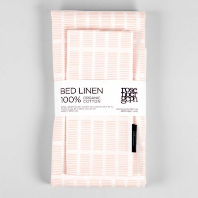 Bed linen, Tile Pale Rose 100% organic cotton