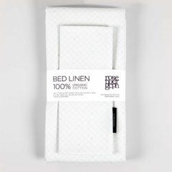 Bed linen, Weave aqua, Organic cotton