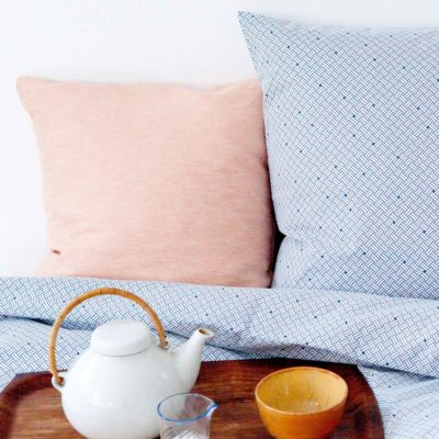 Bed linen, Weave navy blue, Organic cotton