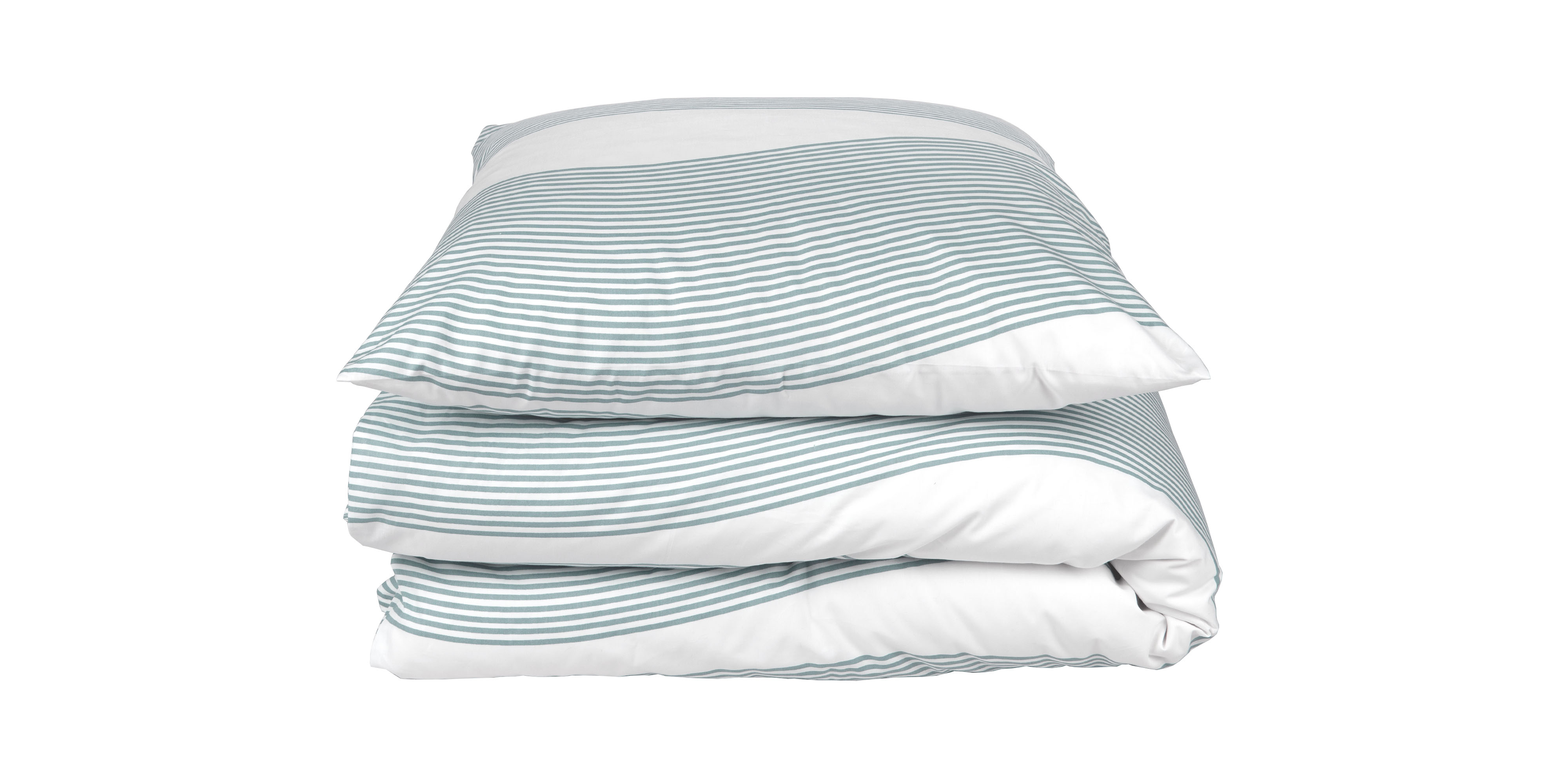 Bed linen River aqua green, Designed by Anne Rosenberg, RosenbergCph