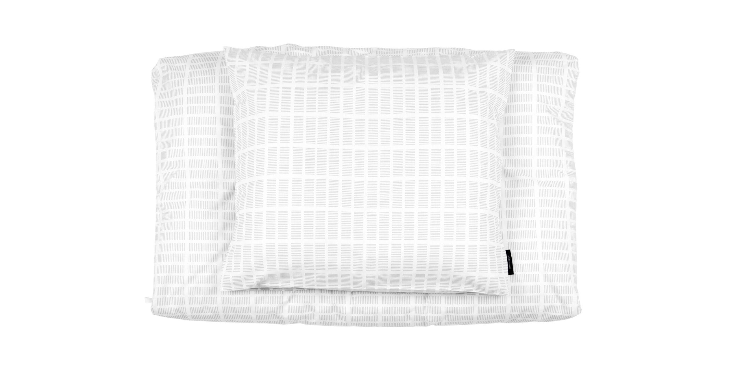 Tile grey organic cotton bed linen, designed by Anne Rosenberg, RosenbergCph