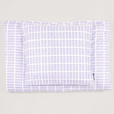 Bed linen, Tile lavender, design by Anne Rosenberg, RosenbergCph