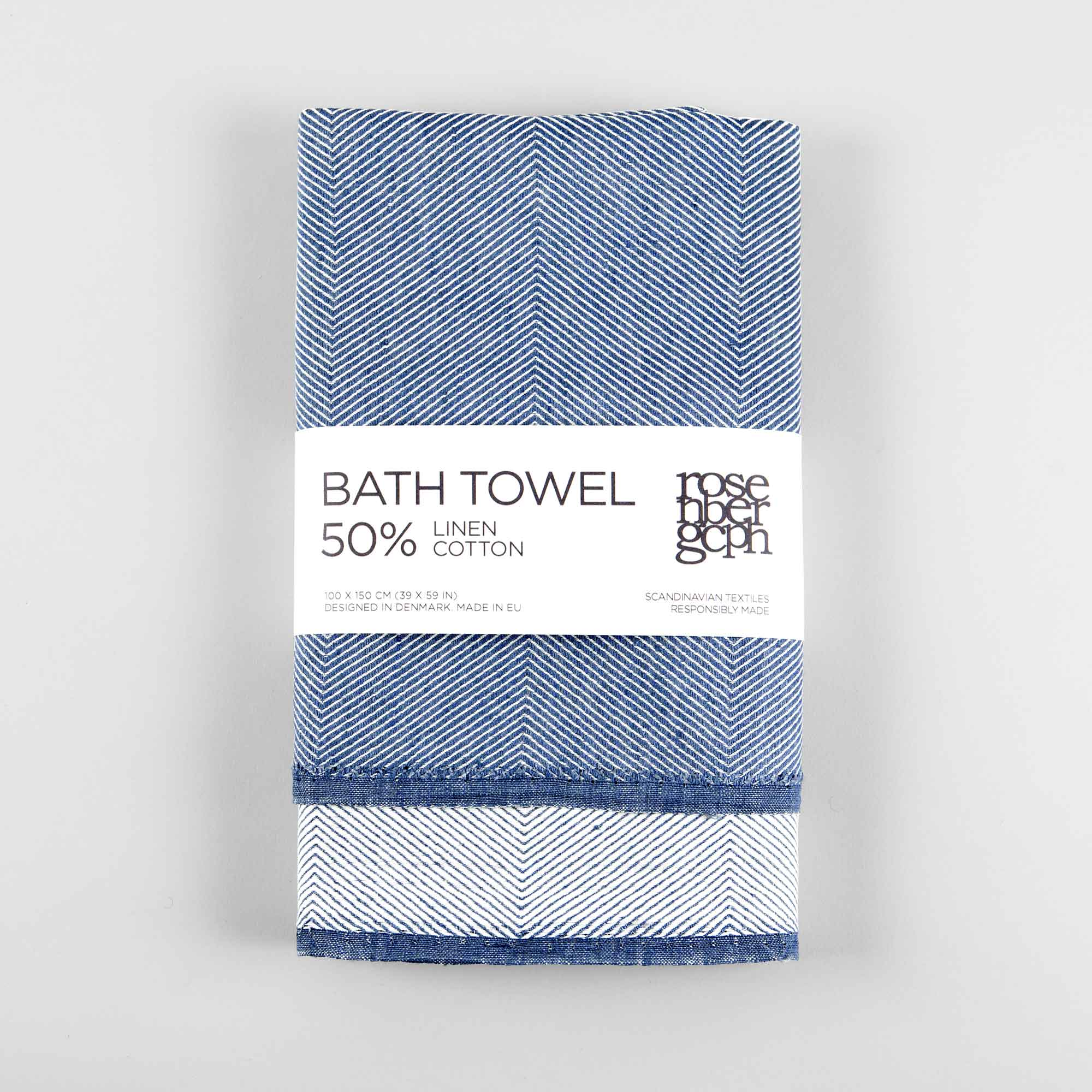 Bath Towel Linen Cotton Rosenbergcph