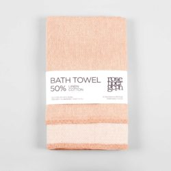 Bath towel, linen/cotton, coral