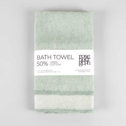 Bath towel, linen/cotton, aqua