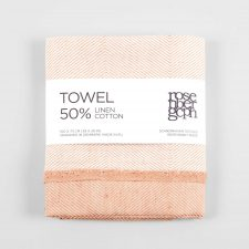 Towel, cotton/linen, coral