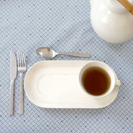 table cloth weave blue
