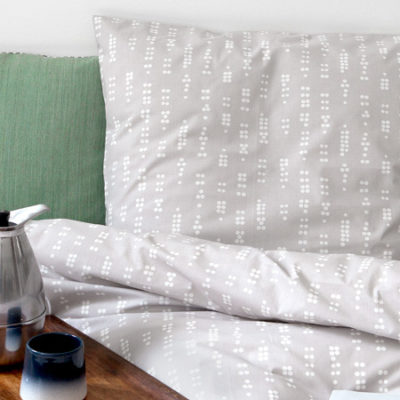 Bed linen, Dot grey