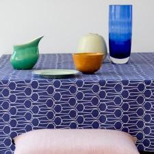 table cloth big drop blue