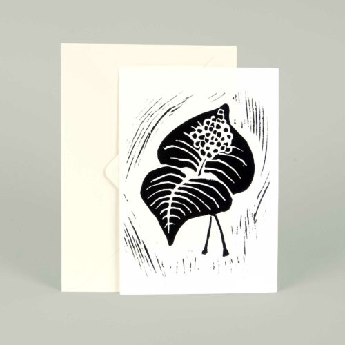 Greeting card, Berry, Linocut by Anne Rosenberg, RosenbergCph