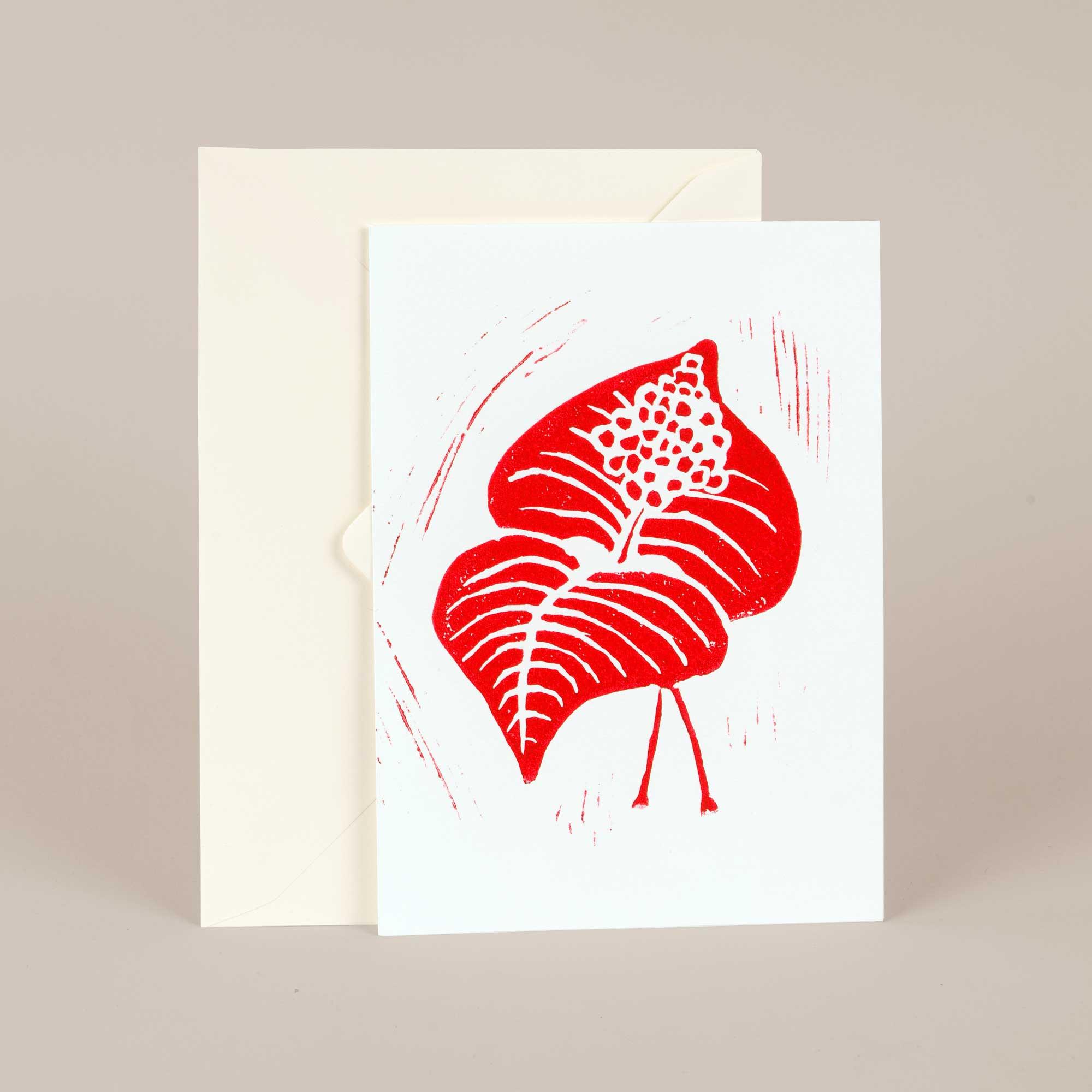 Linocut card, Berry, Linocut by Anne Rosenberg, RosenbergCph