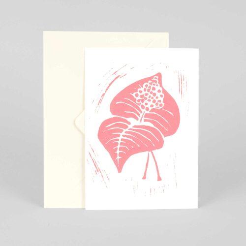 Greeting card, Berry, Linocut by Anne Rosenberg, RosenbergCph