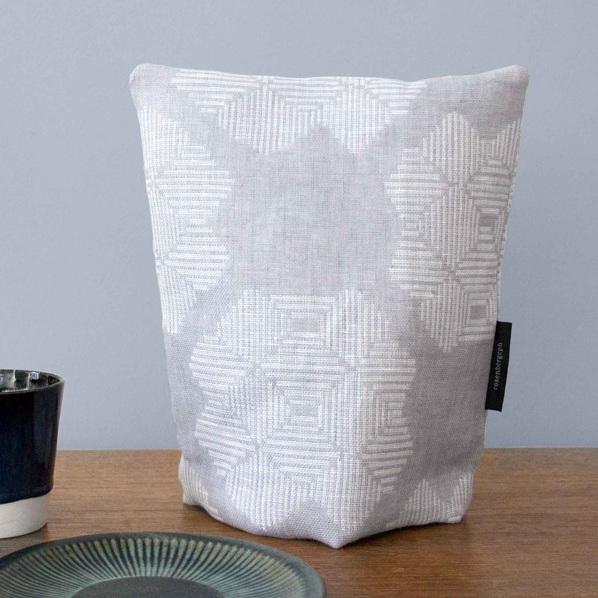 Coffee cosy, Desert rose, grey, 100% linen
