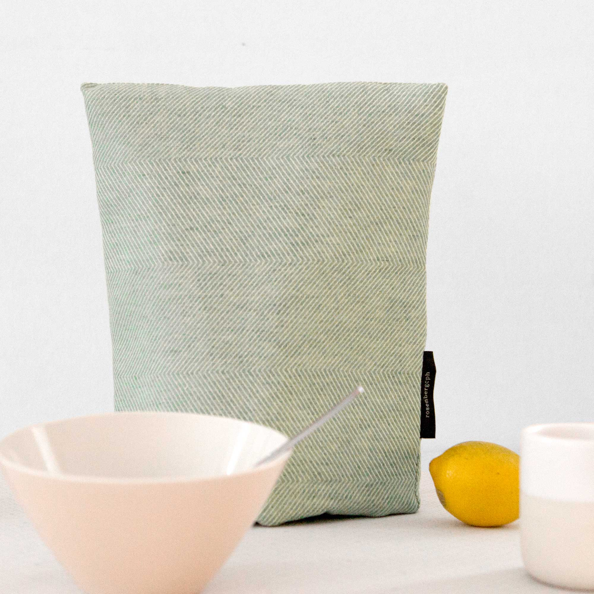 offee cosy, linen/cotton, aqua green, by RosenbergCph