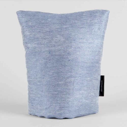 Coffee cosy, linen/cotton, blue