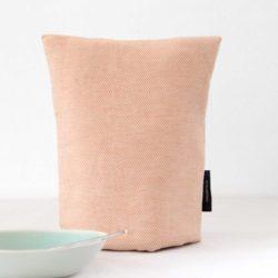 Coffee cosy, linen/cotton coral