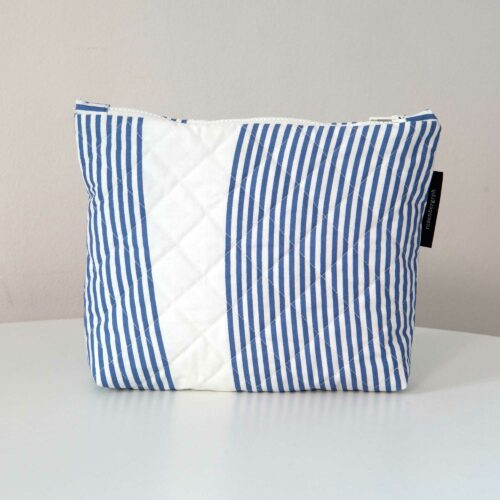 River blue, quilted purse, limited edition, design by Anne Rosenberg, RosenbergCph