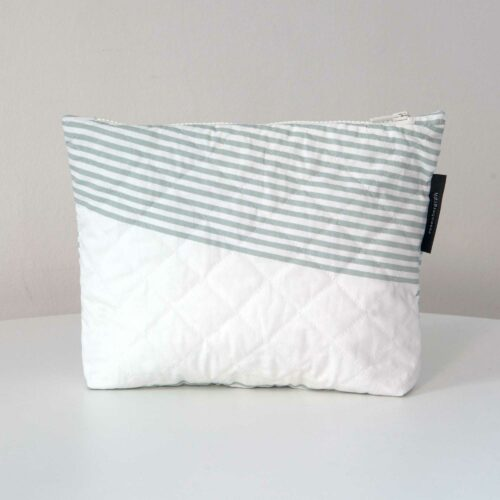 River aqua, quilted purse, limited edition, design by Anne Rosenberg, RosenbergCph