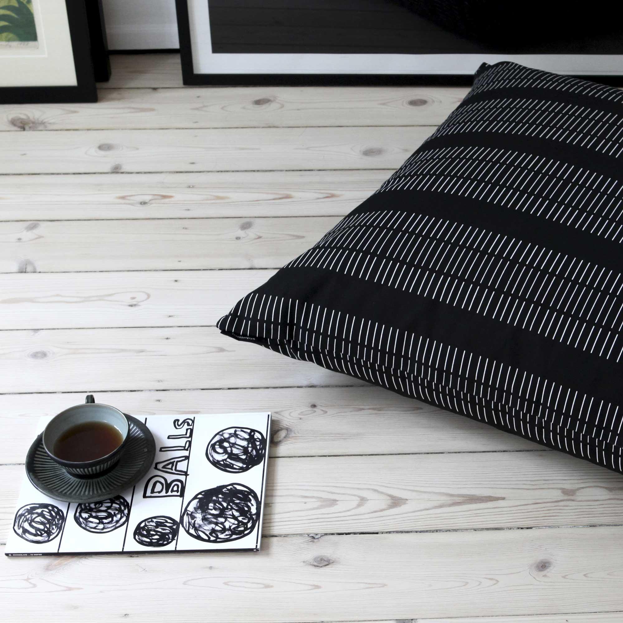 Floor cushion, Dash black
