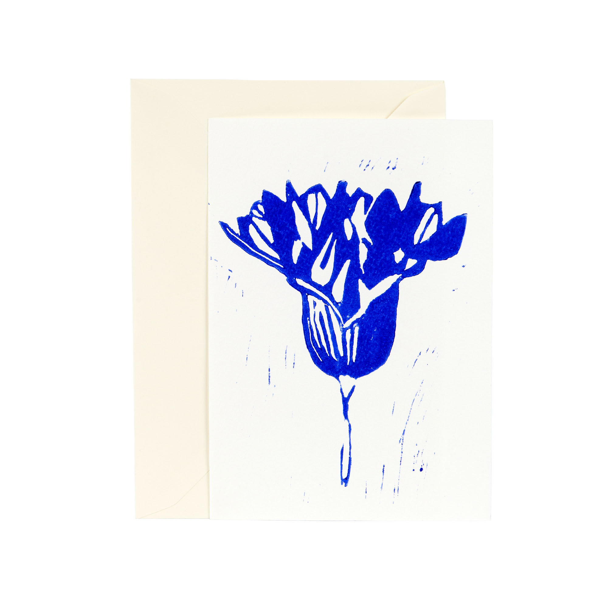 Greeting card, Onion flower, Linocut by Anne Rosenberg, RosenbergCph