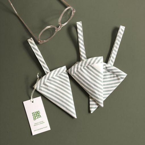 Cone, River aqua, 100 % organic cotton, made in Denmark, Design by Anne Rosenberg, RosenbergCph