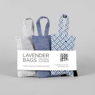Lavender bags, blue selection, design by Anne Rosenberg, RosenbergCph
