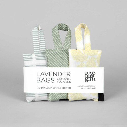 Lavender bags, green selection, design by Anne Rosenberg, RosenbergCph