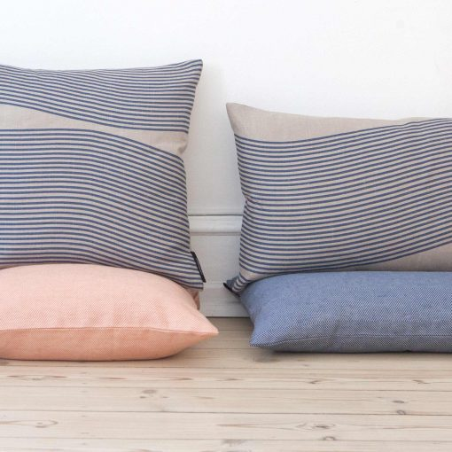Pure linen River pattern cushions design by Anne Rosenberg, RosenbergCph