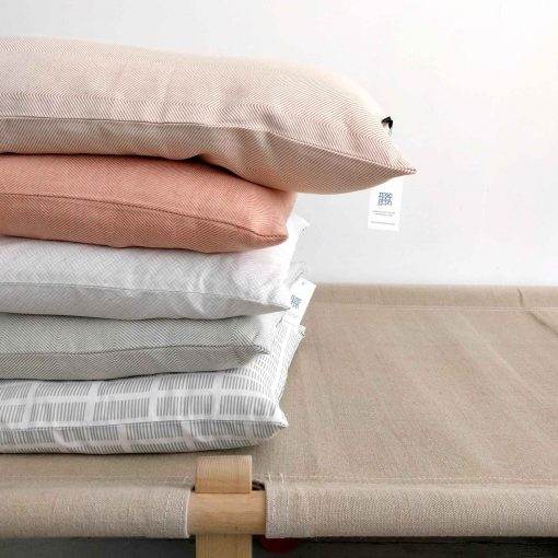 Organic cotton and linen/cotton cushions