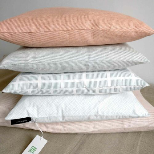 Cotton and linen cushions