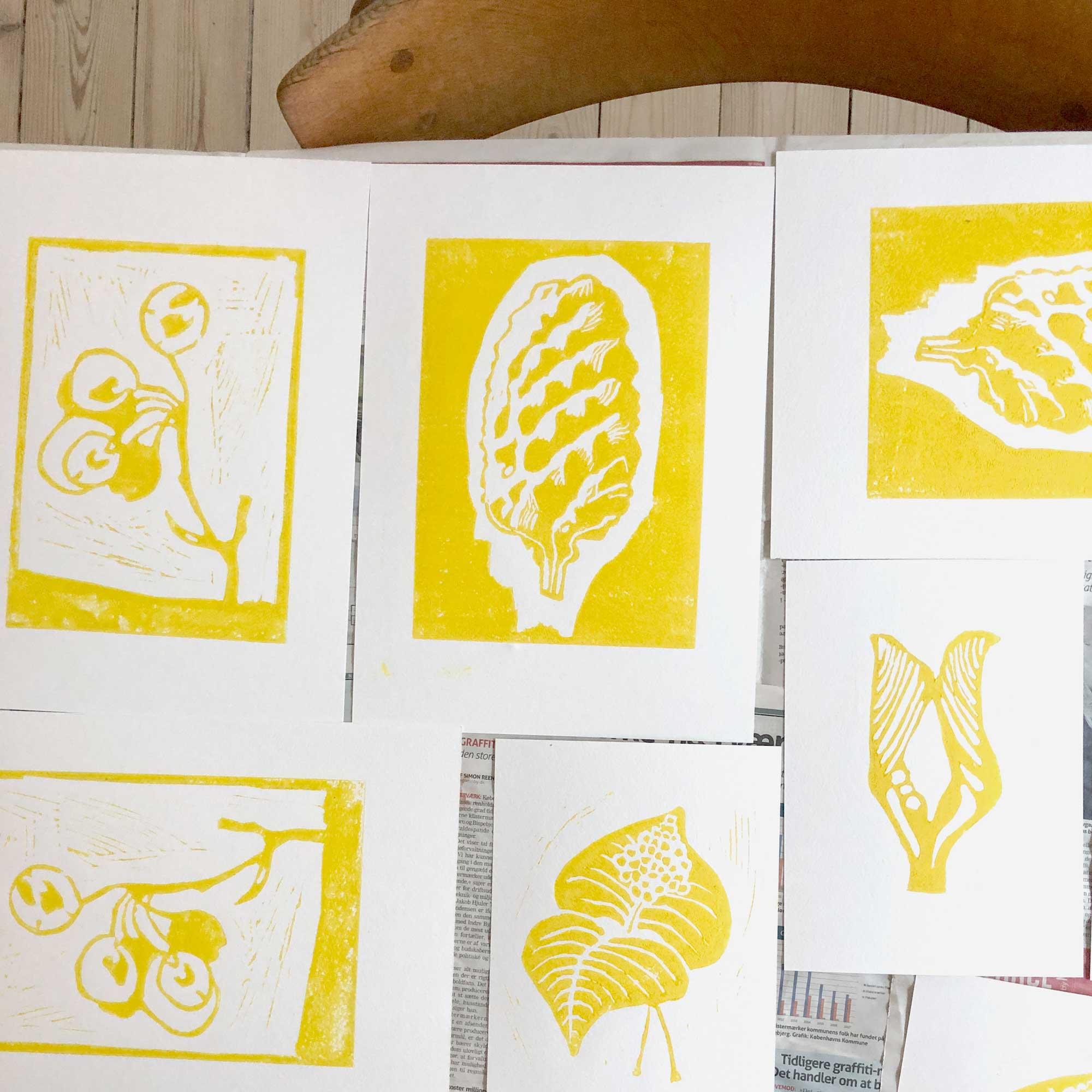 New linocuts ss20, by Anne Rosenberg, RosenbergCph