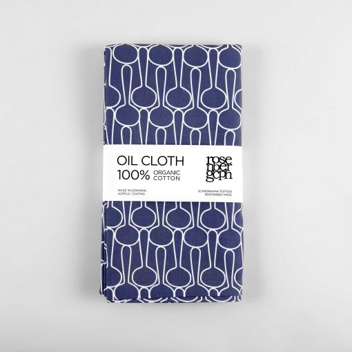 Oil cloth, Big drop blue