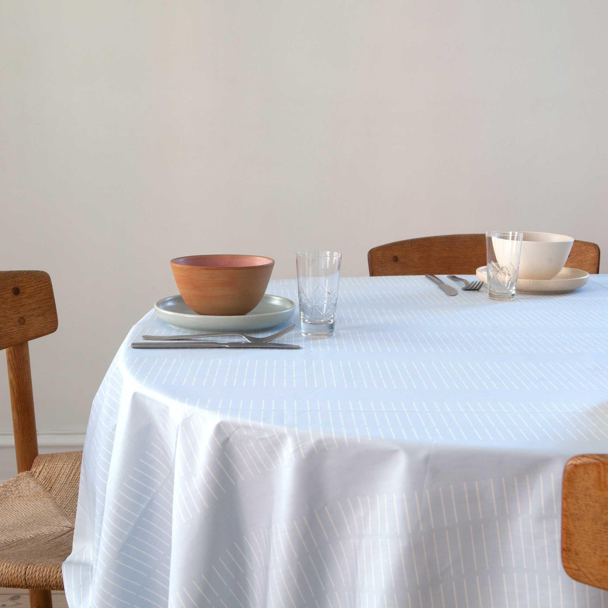 Oil cloth, Dash Morning Sky, organic cotton design by Anne Rosenberg, RosenbergCph