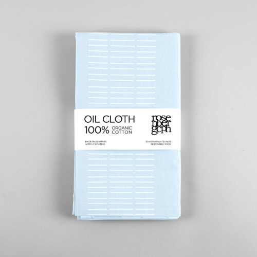 Oil cloth, Dash Sky Blue, organic cotton, design by Anne Rosenberg, RosenbergCph