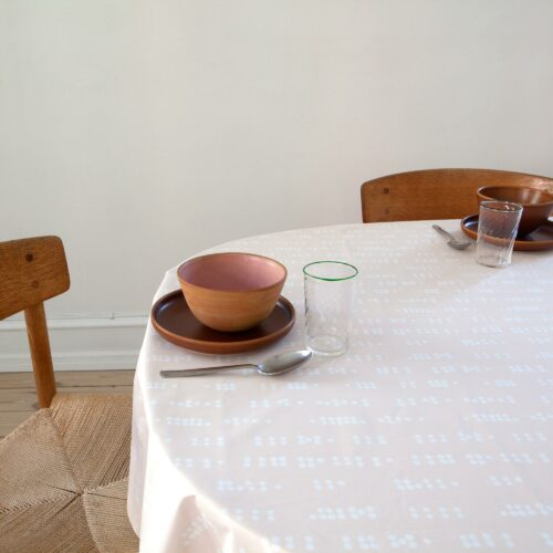 Oil cloth, Dot Sea Shell, organic cotton, design by Anne Rosenberg, RosenbergCph