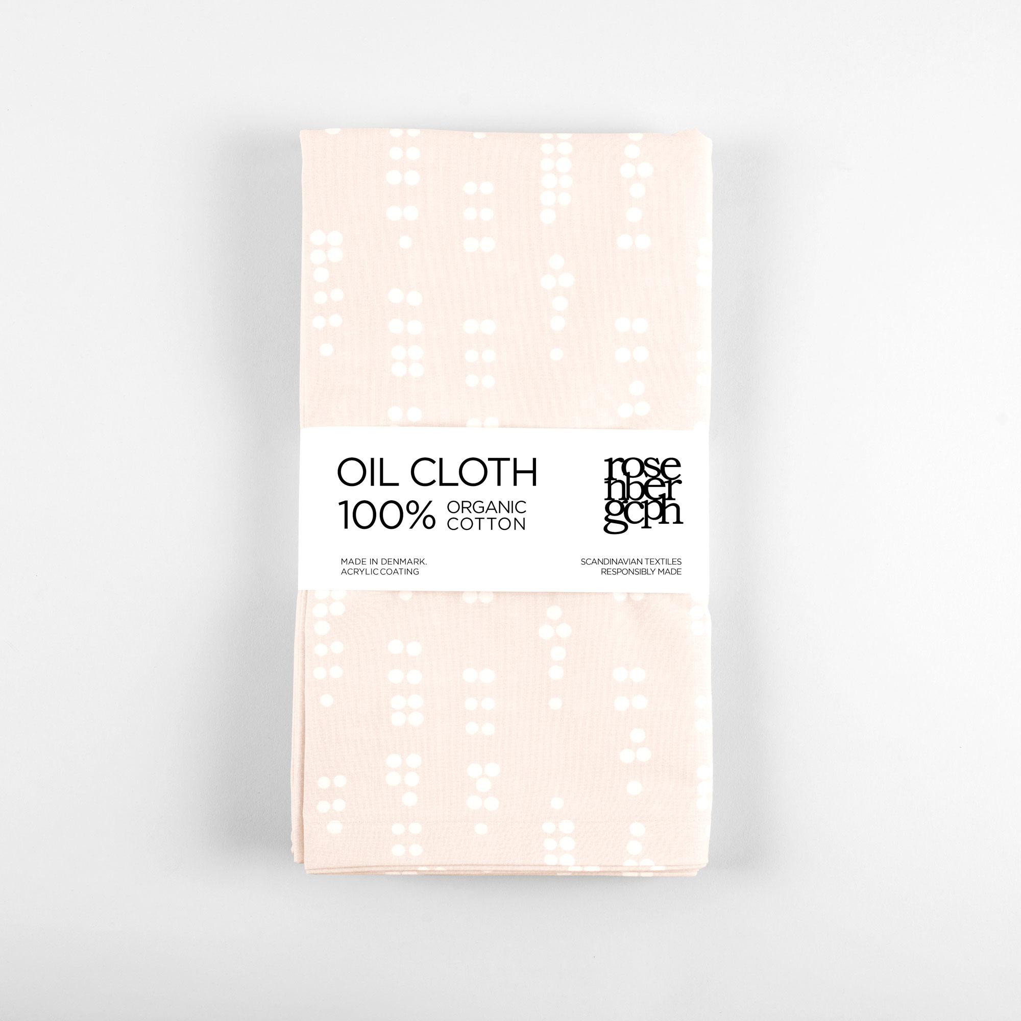 Oil cloth, Dot Sea Shell organic cotton design by Anne Rosenberg, RosenbergCph