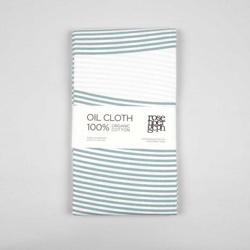 Oil cloth, River aqua green, design by Anne Rosenberg, RosenbergCph