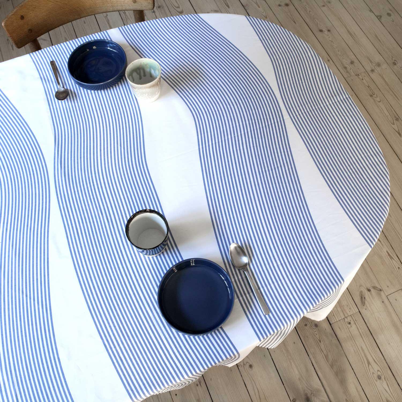 Oil cloth, River blue, RosenbergCph, design by Anne Rosenberg