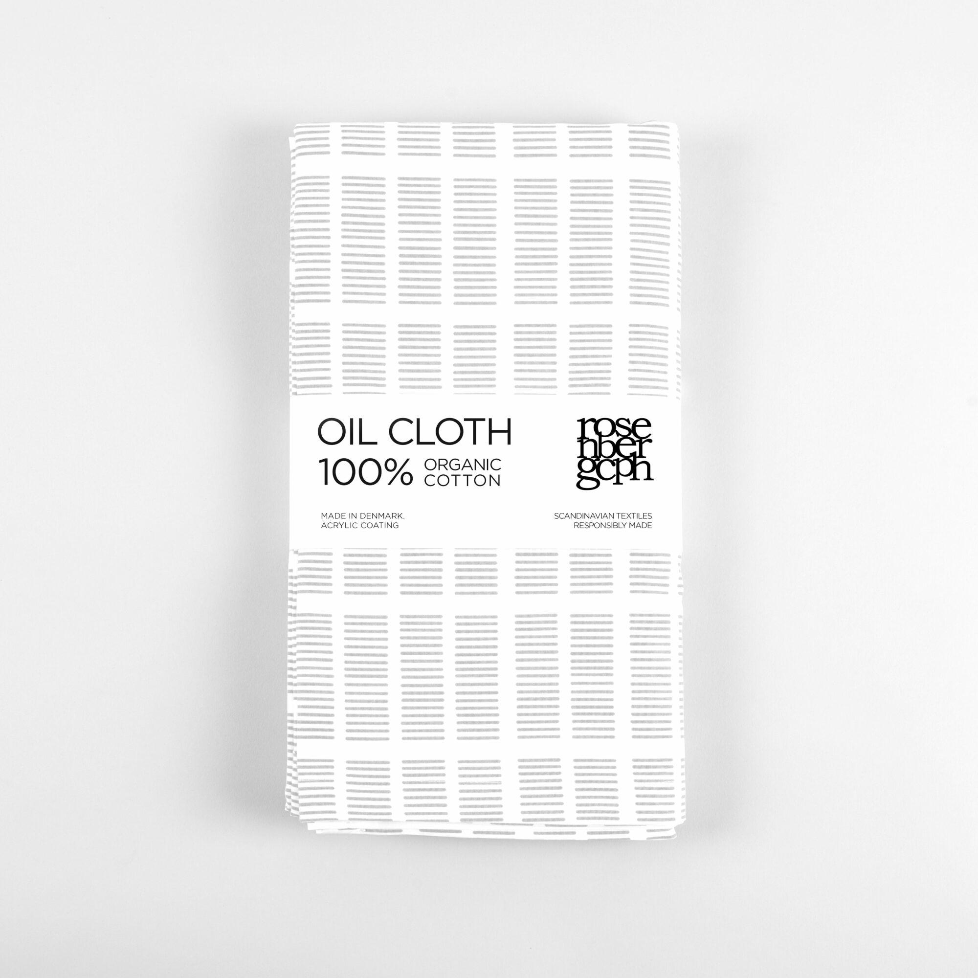 Tile grey oil cloth, design by Anne Rosenberg, RosenbergCph