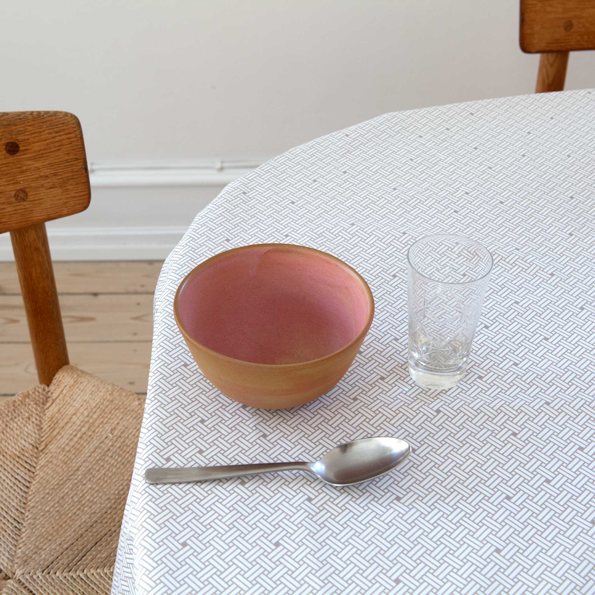 Oil cloth, Weave Ash Grey, organic cotton, design by Anne Rosenberg, RosenbergCph