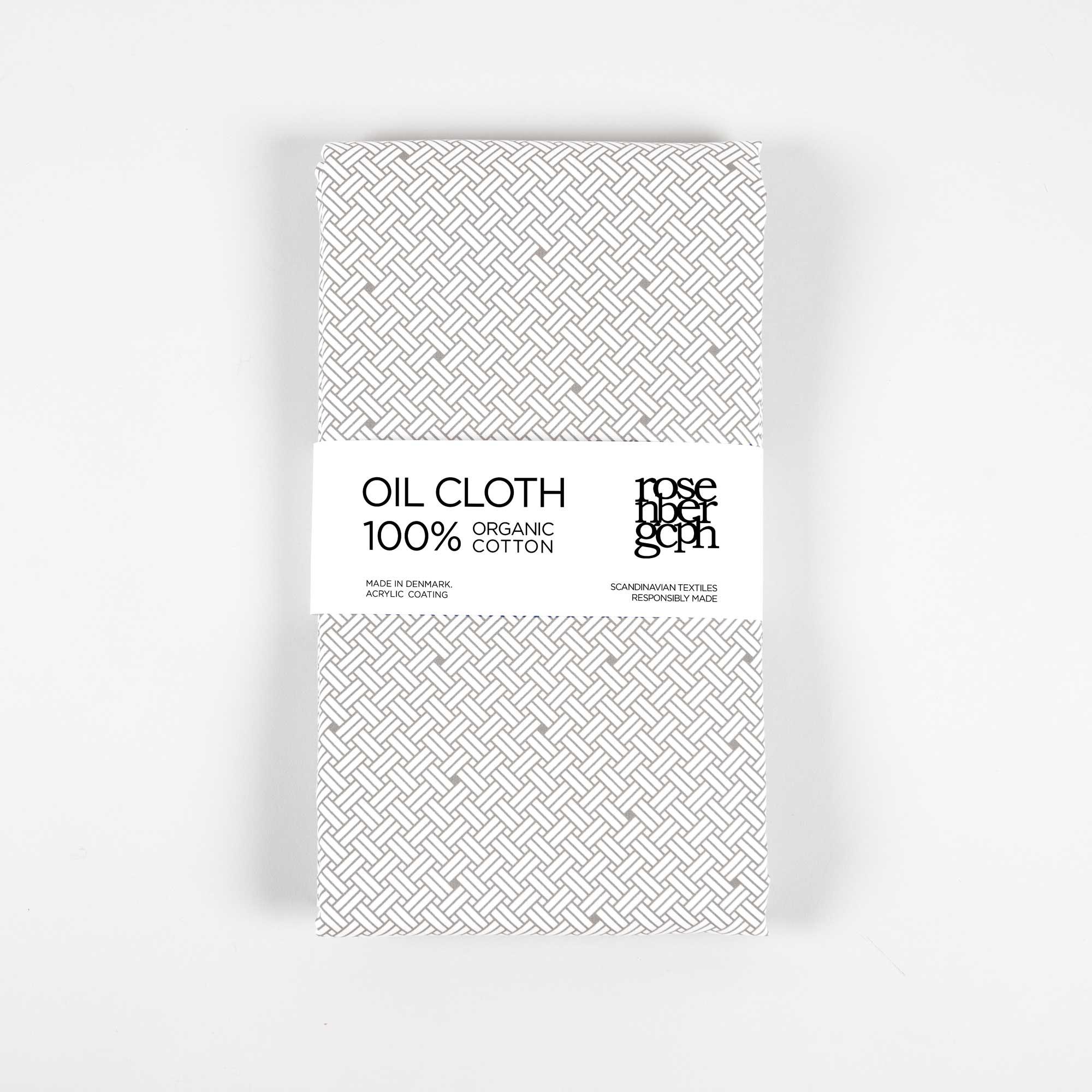 Oil cloth, Weave Ash Grey, organic cotton design by Anne Rosenberg, RosenbergCph