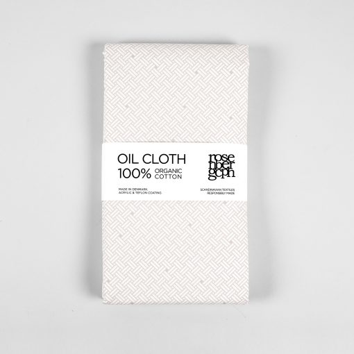 Oil cloth Weave tan brown