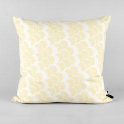 Cushion, organic cotton, Obi yellow, design by Anne Rosenberg, RosenbergCph