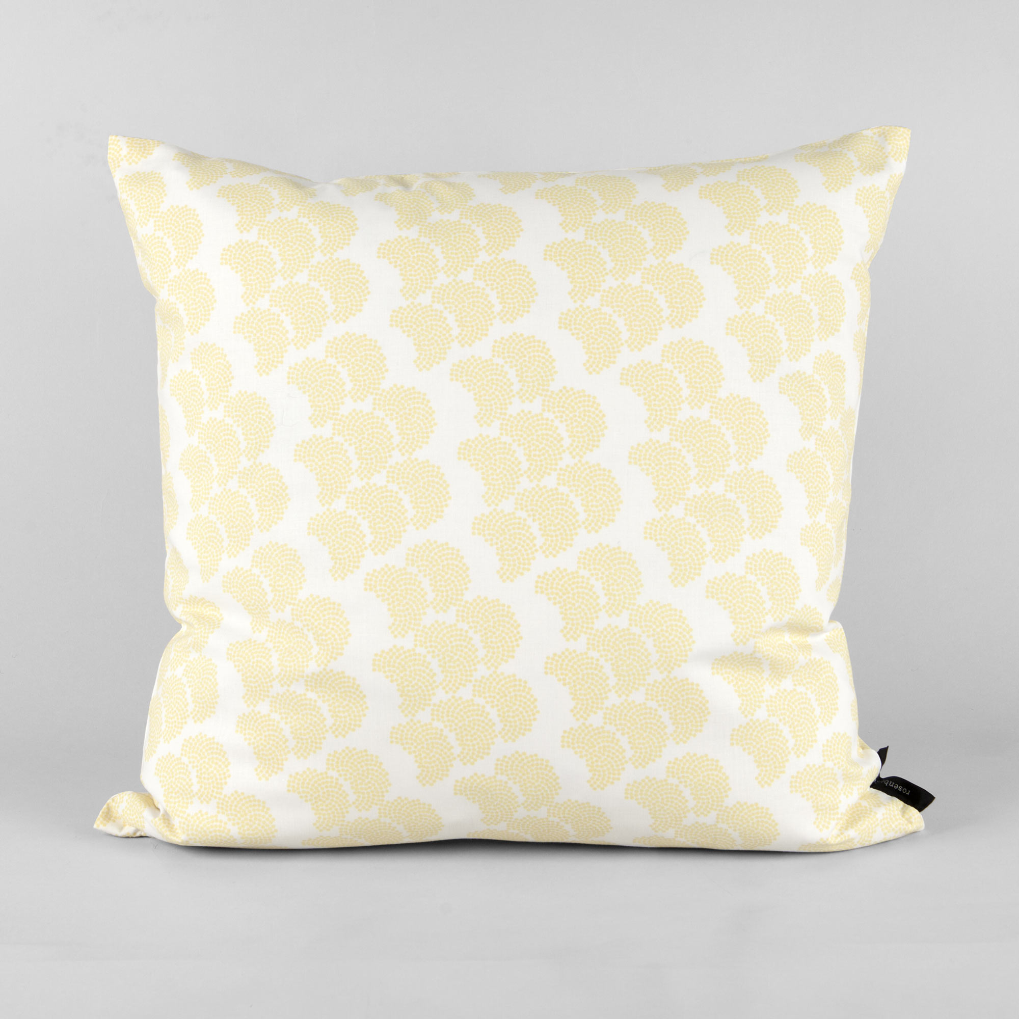 Cushion, organic cotton, Obi yellow, design by Anne Rosenberg, RosenbergCph