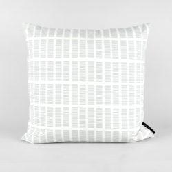 45x45 cm organic cotton cushion, Tile aqua