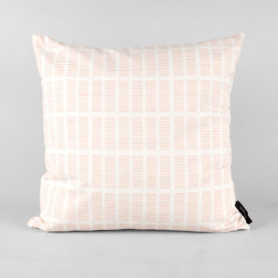 Cushion, organic cotton, Tile pale rose, design by Anne Rosenberg, RosenbergCph