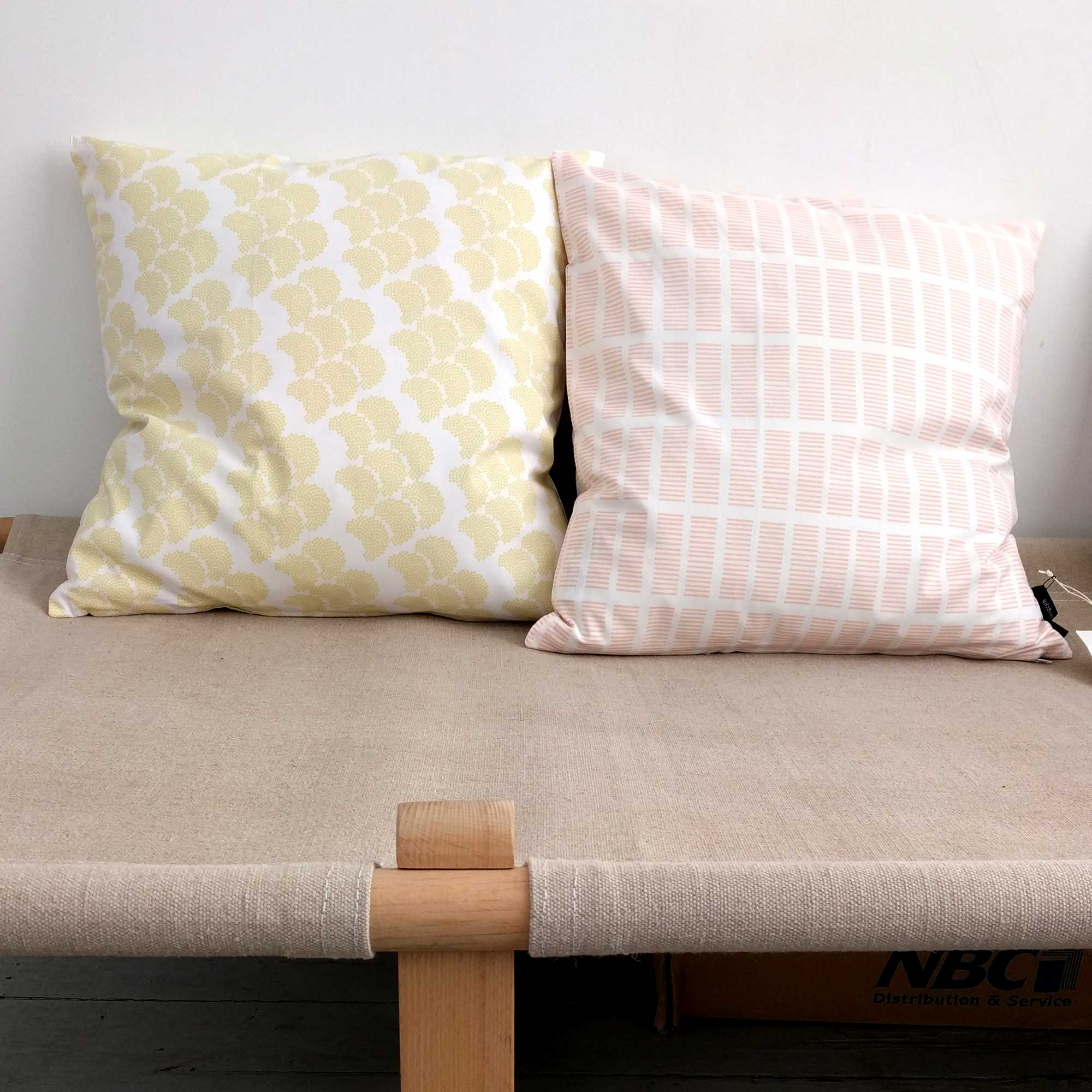 Cushions, organic cotton, design by Anne Rosenberg, RosenbergCph