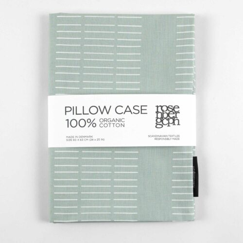 Pillow case, dash aqua