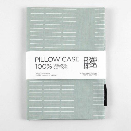 Pillow case, dash aqua
